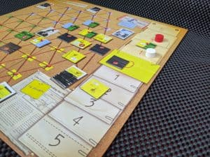 Part way through a game of Watergate.