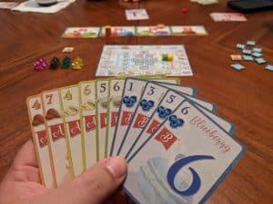 Playing the trick taking card game Macaron coming soon to Kickstarter