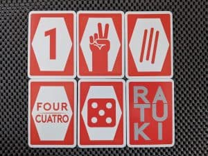 The various ways numbers are represented in the card game Ratuki