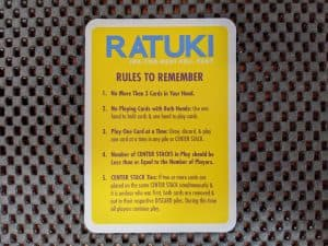 The summary card with rules to remember in Ratuki