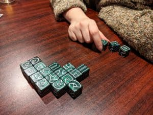 Playing Kells with Knot Dice Squared.