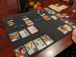 Only two locations remain in this game of the Pathfinder Adventure Card Game Core Set