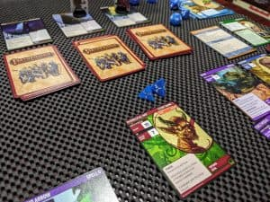 Fighting against a henchman in the Pathfinder Adventure Card Game Core Set