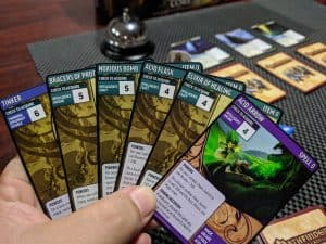 A hand of cards from the Pathfinder Adventure Card Game Core Set