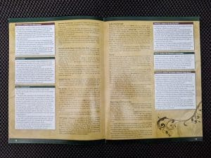 A look at the wall of text that is the Pathfinder Adventure Card Game Core Set rulebook.