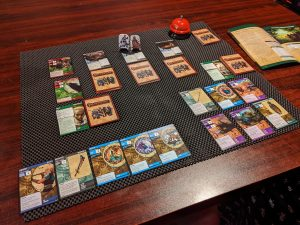 Pathfinder Adventure Card Game Core Set being played.