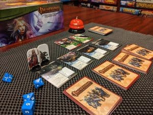 Starting off an adventure in the Pathfinder Adventure Card Game Core Set
