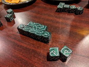 Just starting a game of Knot Dice.