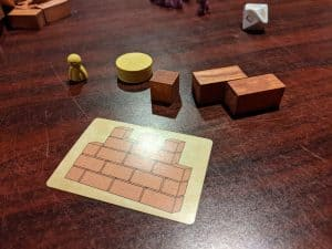 What players start with at the beginning of a game of Bricks & Brutes