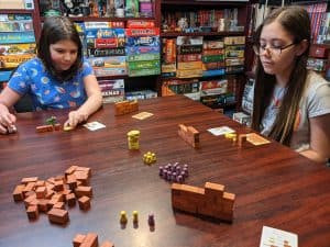 Playing Bricks & Brutes with my kids.
