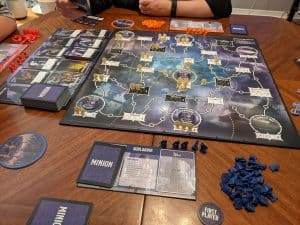 Tyrants of the Underdark set up and ready to play three players.