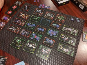 The scoring phase in a game of Robotech Force of Arms