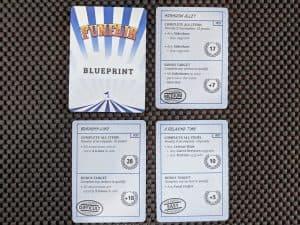 Various Blueprint Cards from Funfair