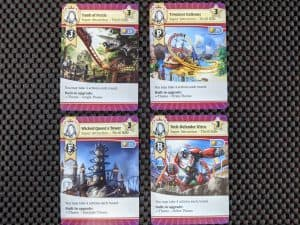 The four showcase cards from Funfair