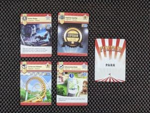 Upgrades from Funfair the theme park building board game.