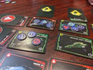 Lots of counters in this battle in Robotech Force of Arms
