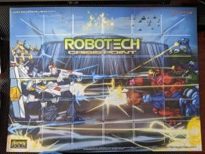 The board for Robotech Crisis Point featuring some great Robotech Masters artwork.