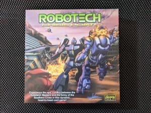 The Robotech Crisis Point Box a Robotech board game.