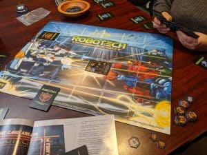 Early in a game of Robotech Crisis Point