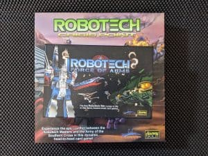 Comparing the boxes for Robotech Crisis Point and Robotech Force of Arms.