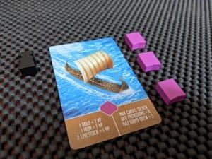 Hall of Heroes includes the components to play Raiders of the North Sea with five players.
