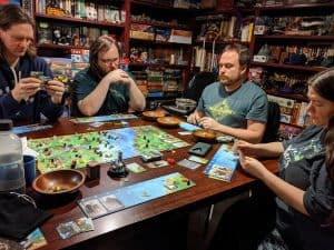Five player Raiders of the North Sea with the Hall of Heroes expansion.
