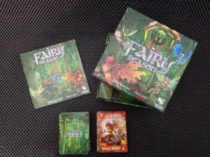 The contents of the board game Fairy Season