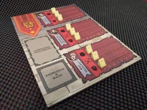 The Gryffindor player board from Harry Potter House Cup Competition