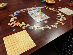 Patchwork is a great puzzle based game for two players.