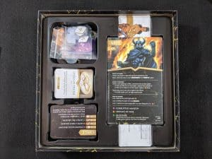 The box insert for Wonder Woman Challenge of the Amazons a Wonder Woman board game.