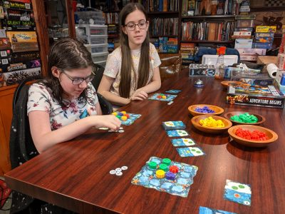 Reef is a great board game for kids.