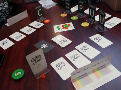 A good look at the components in Letter Jam