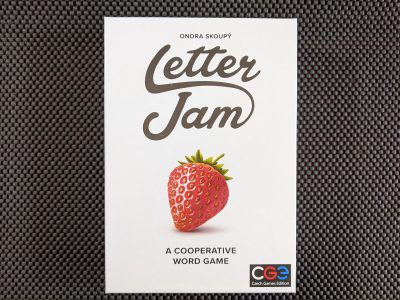 The box for the cooperative word game, Letter Jam from Czech Games Edition.