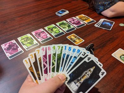 Playing The Crew a cooperative trick-taking game from KOSMOS