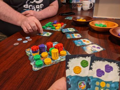 The board game reef is great with only two players.