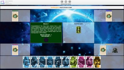 The Crew Quest for Planet nine can be played on Board Game Arena.
