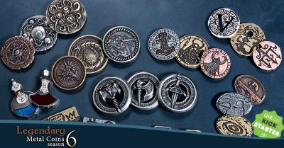 Image for the Legendary Metal Coins Season Six Kickstarter.