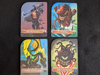 The four icon Dungeons & Dragons monsters included in D&D Adventure Begins