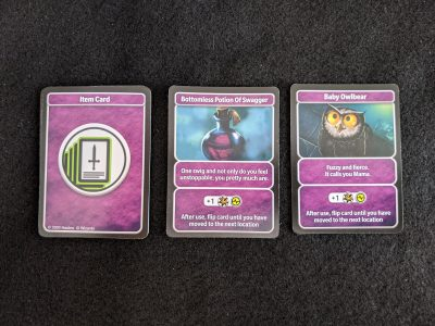 Some sample item cards from D&D Adventure Begins