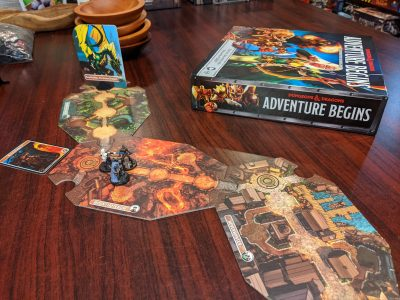 Playing a game of D&D Adventure Begins (note miniatures not included)