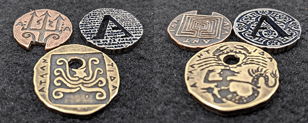 Atlantis metal coin set from Legendary Metal Coins Season Six