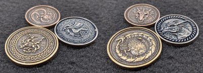 Legendary Metal Coins Season Six Forged Dragon Metal Coins