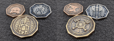 The Forged Dwarven Metal Coin Set From Legendary Metal Coins Season Six