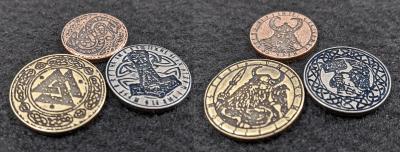 Legendary Metal Coins Season Six Norse Gods Coin Set