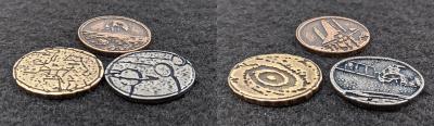 Legendary Metal Coins Season Six Planet Coin Set.