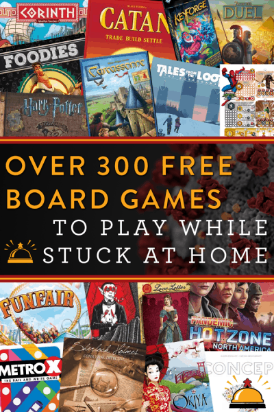 Over 300 Free Print and Play Board Games, Card Games and More