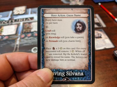 An example of a Hero Action from the Aventuria Adventure Card Game