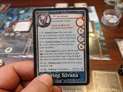 One of the nasty leaders in the Aventuria Adventure Card Game