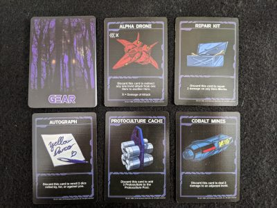 Gear cards from Robotech: Invid Invasion