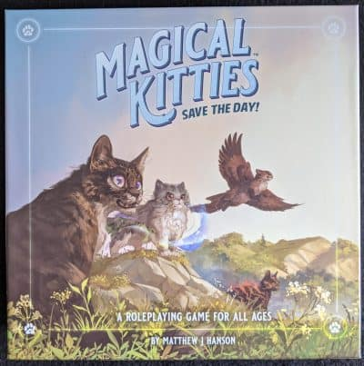 The box cover for Magical Kitties Save The Day an RPG for all ages.